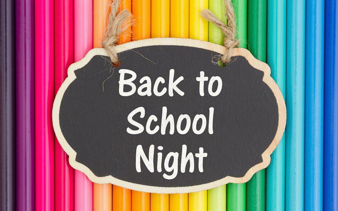 Parent Reminder: Back-to-School Night – Little Oak Preschool
